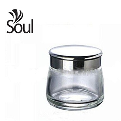 100g - Clear Glass Jar with Silver Cap