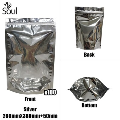 Triangle - Aluminium Side Seal Bag - Full - S - 260x380+50