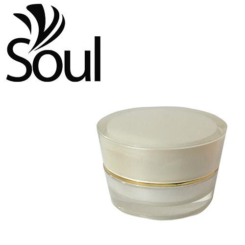 10g - Cone Arcylic Pearl White Cream Jar