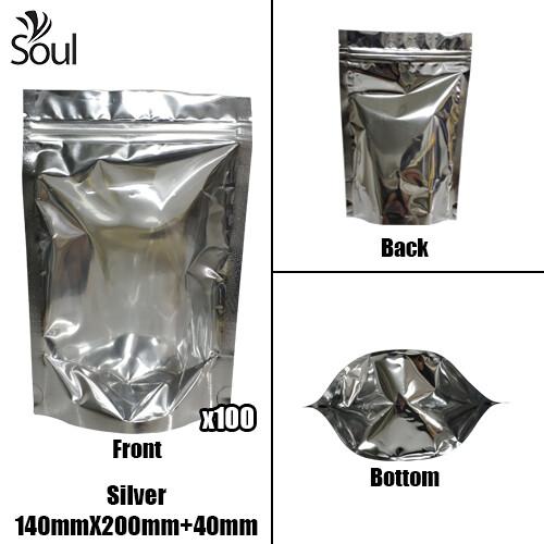 Triangle - Aluminium Side Seal Bag - Full - S - 140x200+40