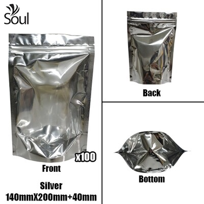 Triangle - Aluminium Side Seal Bag - Full - S - 140x200+40