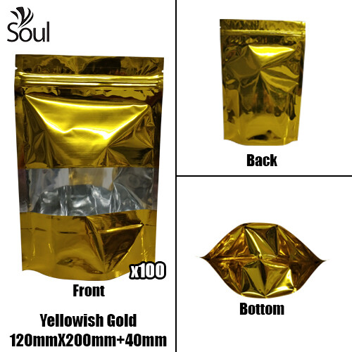 Triangle - Aluminium Side Seal Bag - Half - YG - 140x200+40