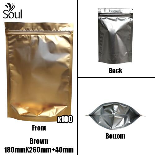 Triangle - Aluminium Side Seal Bag - Full - B- 180x260+40
