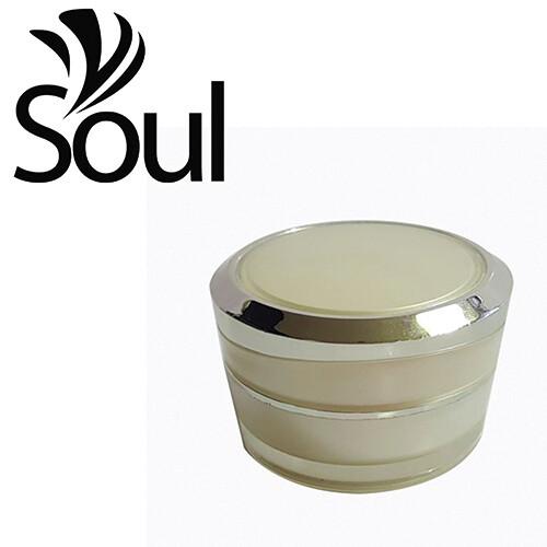 10g - Pyramid Round Arcylic Cream Jar White