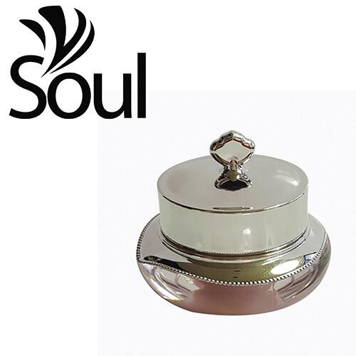 10g - Crown Arcylic Cream Jar Silver