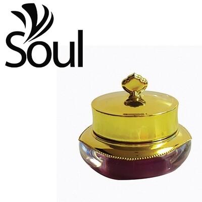 10g - Crown Arcylic Cream Jar Gold
