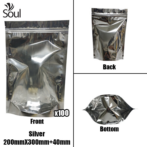 Triangle - Aluminium Side Seal Bag - Full - S - 200x300+40