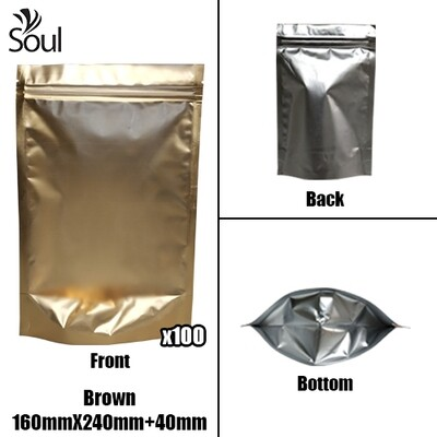 Triangle - Aluminium Side Seal Bag - Full - B- 160x240+40