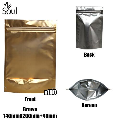 Triangle - Aluminium Side Seal Bag - Full - B- 140x200+40