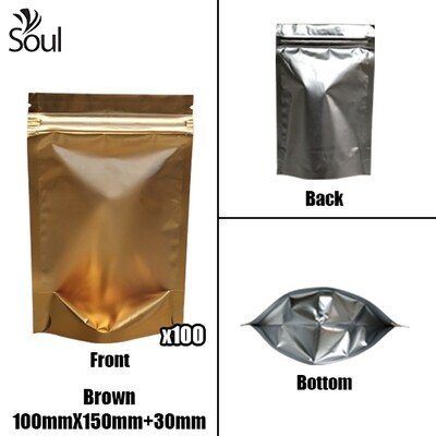 Triangle - Aluminium Side Seal Bag - Full - B- 100x150+30