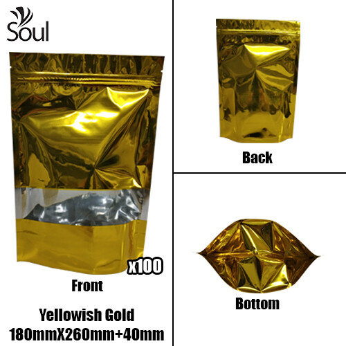 Triangle - Aluminium Side Seal Bag - Half - YG - 180x260+40