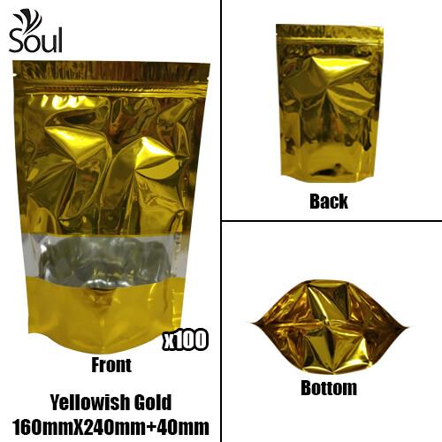 Triangle - Aluminium Side Seal Bag - Half - YG - 160x240+40