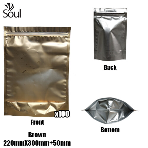 Triangle - Aluminium Side Seal Bag - Full - B- 220x300+50