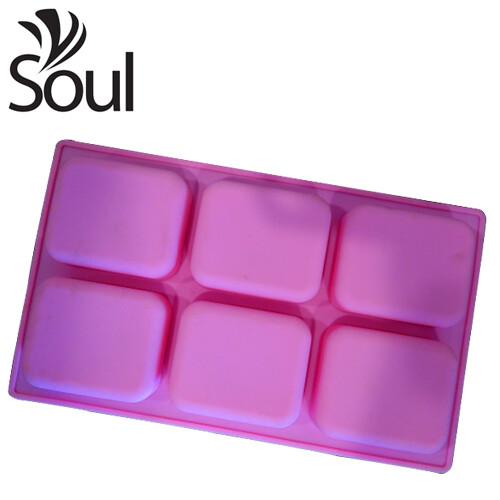 SM - 6X80G Soap Mould Square Shape