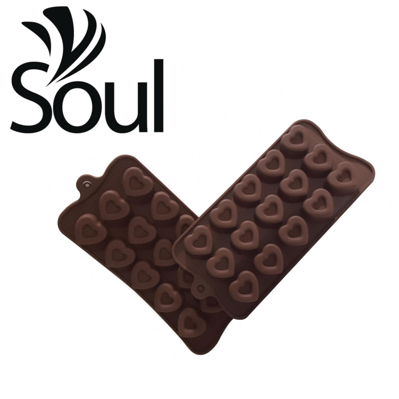 SM - 15x10g Soap Mould Heart Shape