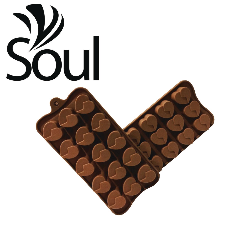 SM - 15x10g Soap Mould love shape