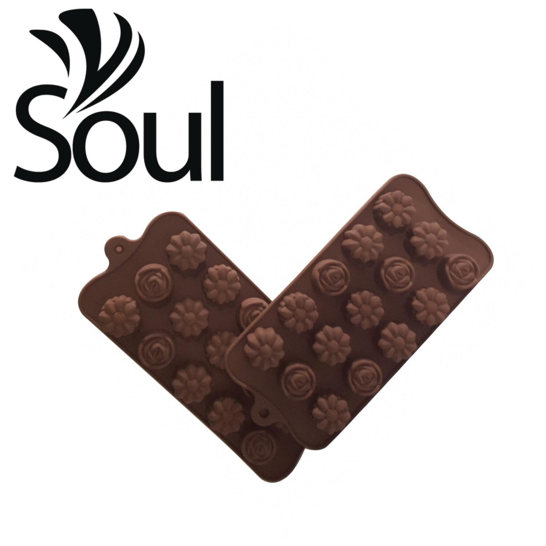 SM - 15x5g Soap Mould mix flower shape