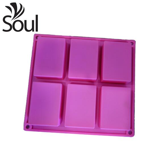 SM - 6x100G Soap Mould Rectangular Shape