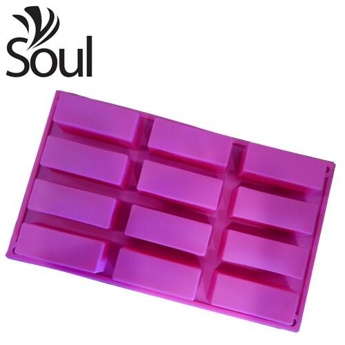 SM - 12x50g Soap Mould Rectangular Shape
