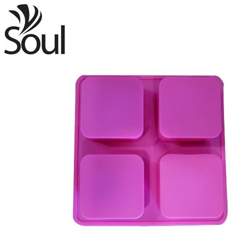 SM - 4x100G Soap Mould Square Shape