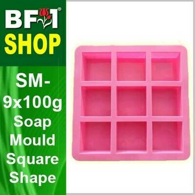 SM - 9x100g Soap Mould Square Shape