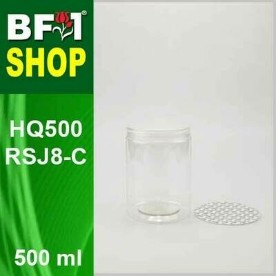 500ml - HQ500RSJ8-C - 85MM Pet Jar with