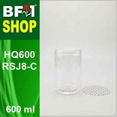 600ml - HQ600RSJ8-C - 85MM Pet Jar with