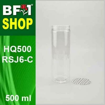 500ml - HQ500RSJ6-C - 65MM Pet Jar with