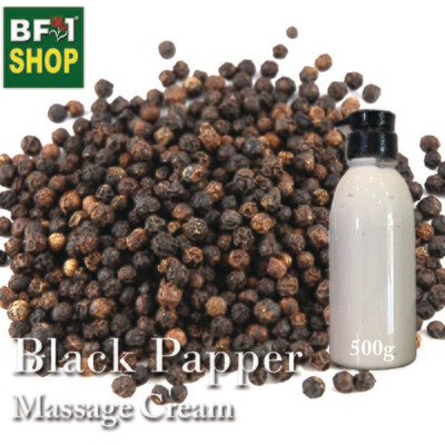 Massage Cream - Black Papper - 500g