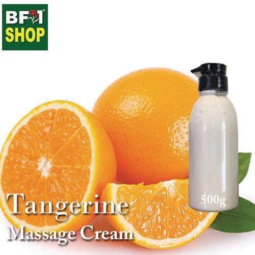 Massage Cream - Tangerine - 500g