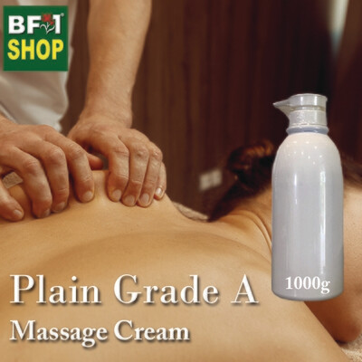 Massage Cream - Plain Grade A - 1000g