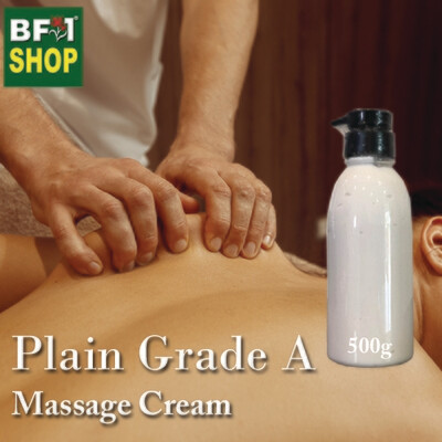 Massage Cream - Plain Grade A - 500g