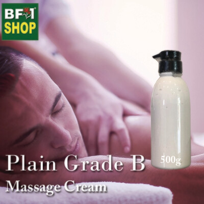 Massage Cream - Plain Grade B - 500g