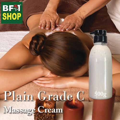 Massage Cream - Plain Grade C - 500g