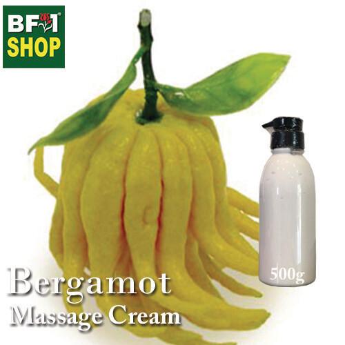 Massage Cream - Bergamot - 500g