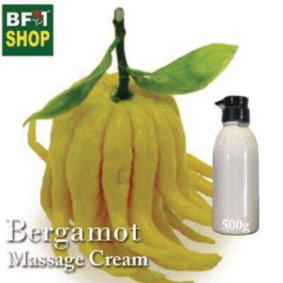 Massage Cream - Bergamot - 500g
