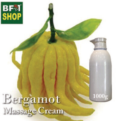 Massage Cream - Bergamot - 1000g