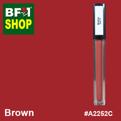 Shining Lip Matte Color - Brown #A2252C - 5g