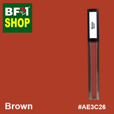 Shining Lip Matte Color - Brown #AE3C26 - 5g
