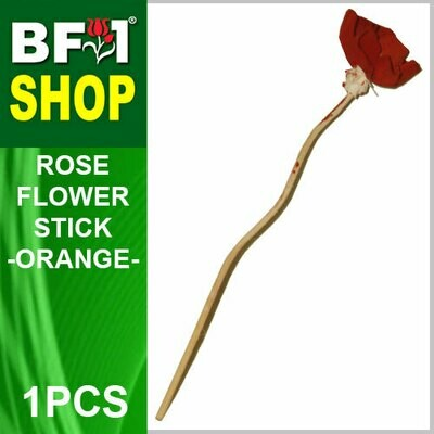 BAP- Reed Diffuser Flower Stick - Rose - Orange x 1pc