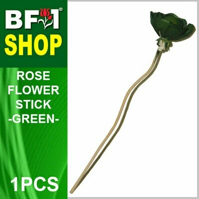 BAP- Reed Diffuser Flower Stick - Rose - Green x 1pc