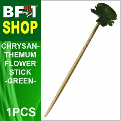 BAP- Reed Diffuser Flower Stick - Chrysanthemum - Green x 1pc