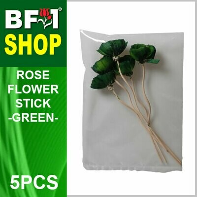 BAP- Reed Diffuser Flower Stick - Rose - Green x 5pc