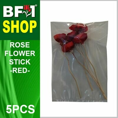 BAP- Reed Diffuser Flower Stick - Rose - Red x 5pc