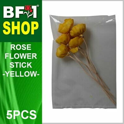 BAP- Reed Diffuser Flower Stick - Rose - Yellow x 5pc