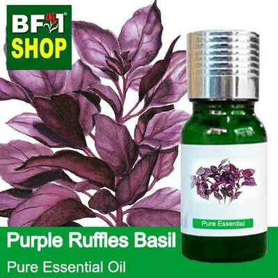 Pure Essential Oil (EO) - Basil - Purple Ruffles Basil Essential Oil - 10ml