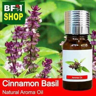 Natural Aroma Oil (AO) - Basil - Cinnamon Basil ( Thai Basil ) Aroma Oil - 10ml