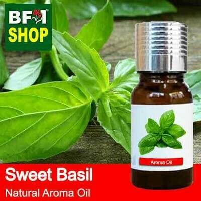 Natural Aroma Oil (AO) - Basil - Sweet Basil ( Giant Basil ) Aroma Oil - 10ml
