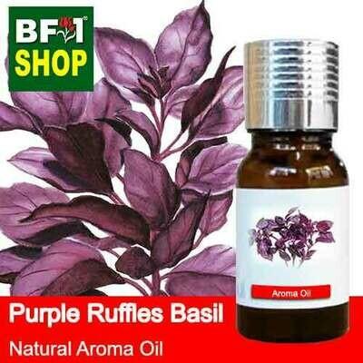 Natural Aroma Oil (AO) - Basil - Purple Ruffles Basil Aroma Oil - 10ml