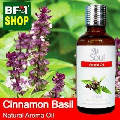 Natural Aroma Oil (AO) - Basil - Cinnamon Basil ( Thai Basil ) Aroma Oil  - 50ml